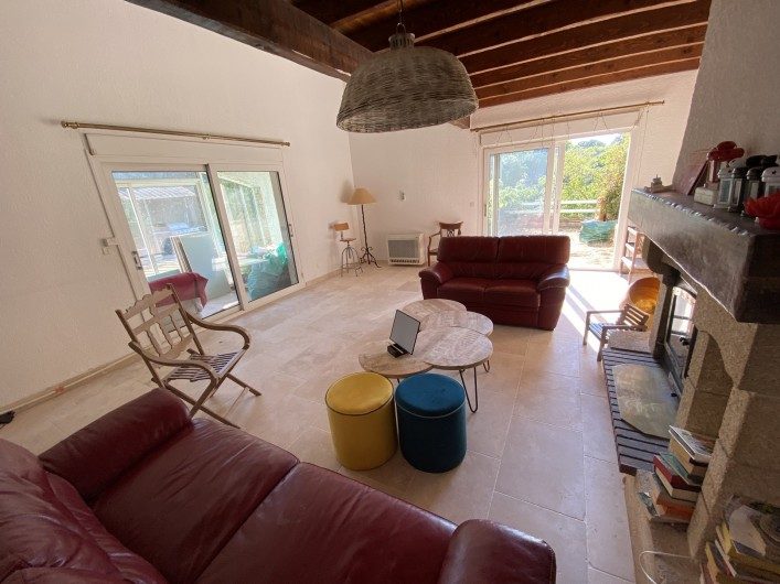 Location de vacances - Villa à Collias - Salon
