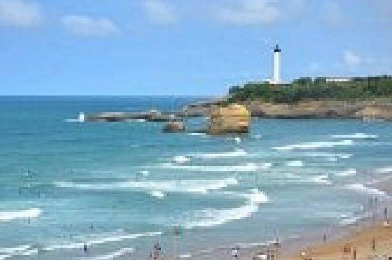 Location de vacances - Appartement à Tarnos - Vue Phare de Biarritz depuis promenade