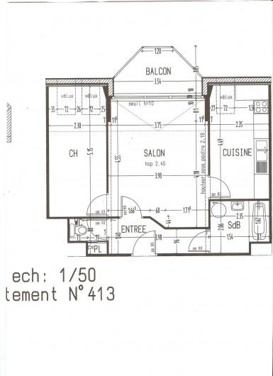 Location de vacances - Appartement à Perros-Guirec - Plan de l'appartement