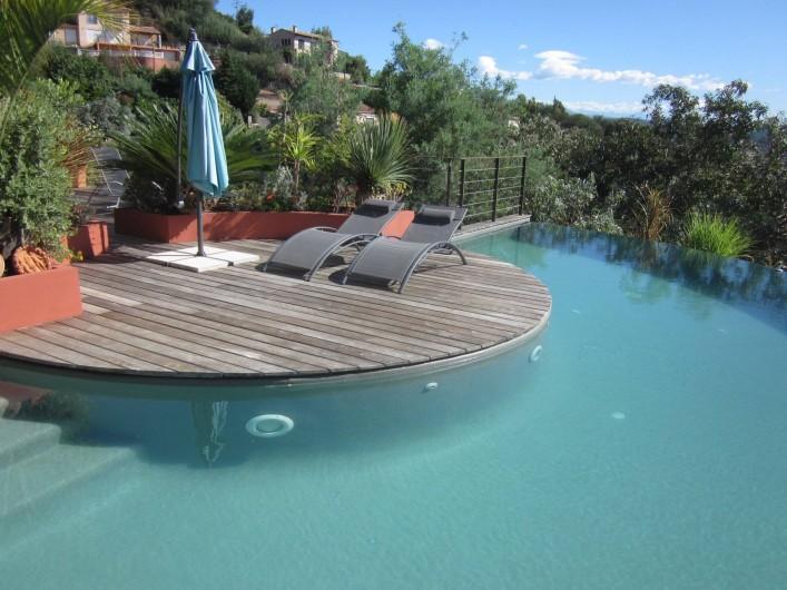 Location de vacances - Studio à Mandelieu-la-Napoule - piscine privée