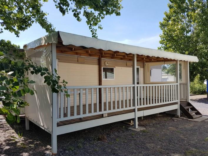 Location de vacances - Camping à Givrand - Mobil-home 2 chambres toit plat