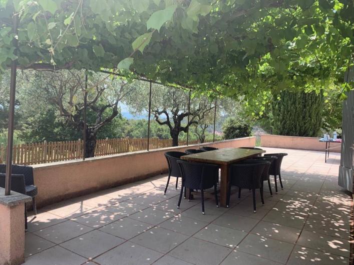 Location de vacances - Villa à Bédoin - COIN REPAS TERRASSE