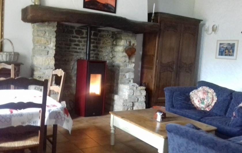 Location de vacances - Gîte à Picauville - Un poêle à granulés vous maintiendra la maison au chaud pendant vos balades
