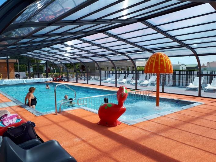 Location de vacances - Bungalow - Mobilhome à Zegerscappel - piscine couverte et chauffée 15.50 m x 5.50m au Domaine du Groene Veld