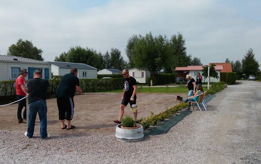 Location de vacances - Bungalow - Mobilhome à Zegerscappel - terrain de boules