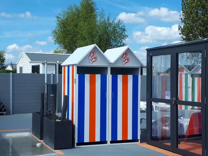 Location de vacances - Bungalow - Mobilhome à Zegerscappel - cabines de plage