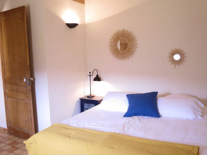 Location de vacances - Mas à Céreste - Mas des Lavandes, chambre 2, lit 180X200 ou 2 lits 90X200
