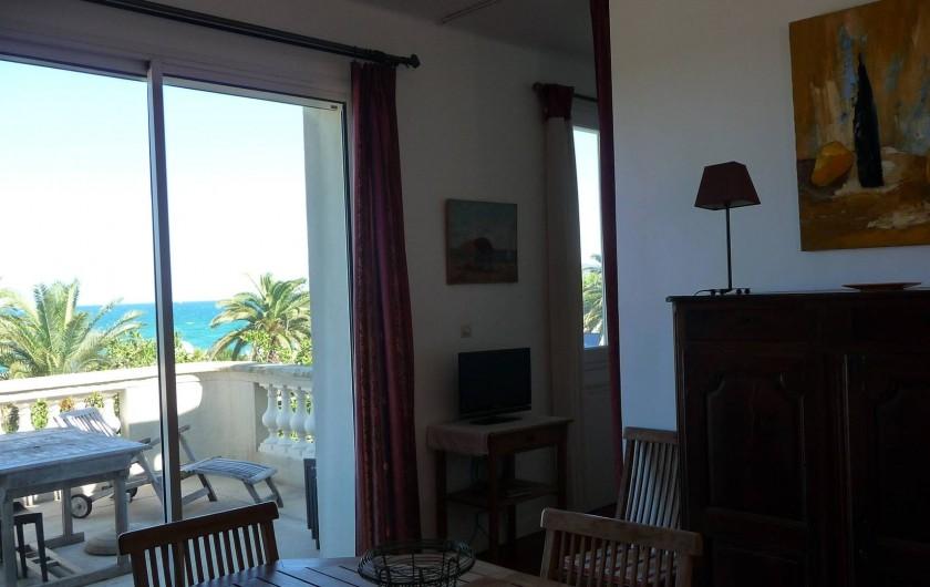 Location de vacances - Chalet à Argelès-sur-Mer - 4eme chambre vue depuis salon