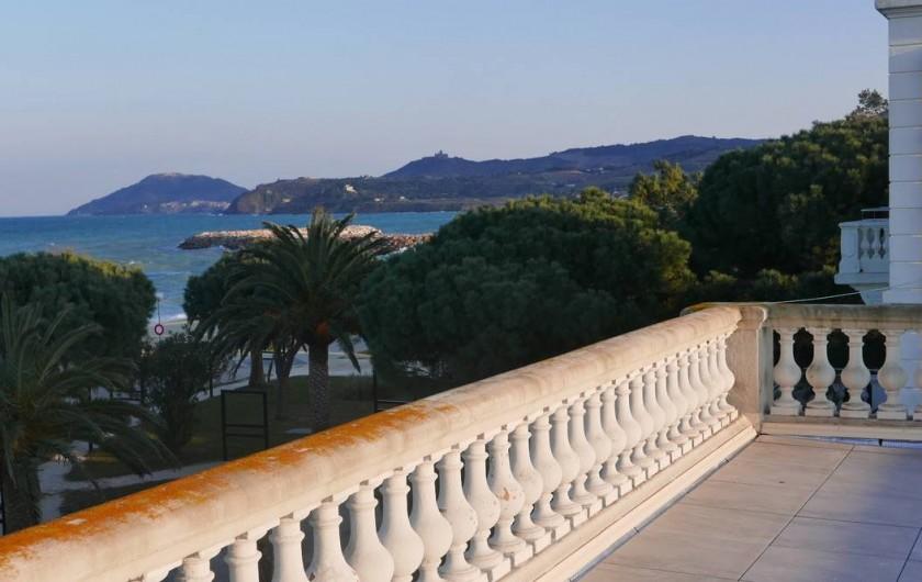 Location de vacances - Chalet à Argelès-sur-Mer - vue depuis terrasse toit
