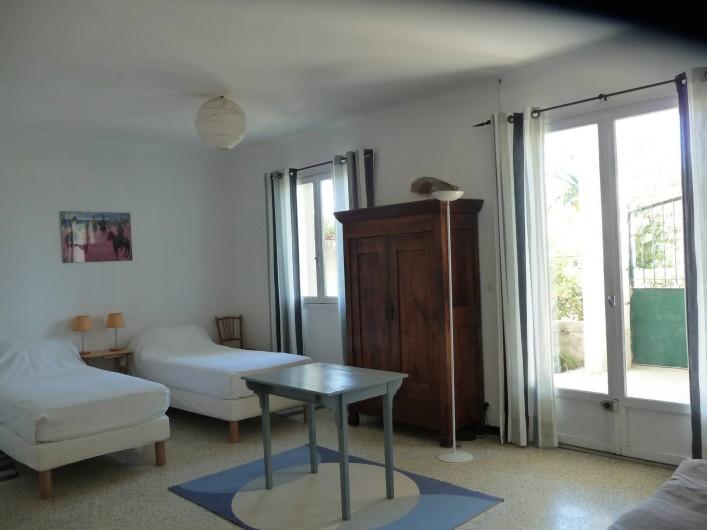 Location de vacances - Chalet à Argelès-sur-Mer - grande chambre rez de chaussée