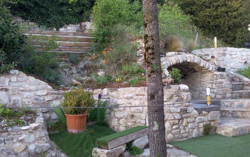 Location de vacances - Mas à Mirabel-et-Blacons - terrasse & jardin ouest
