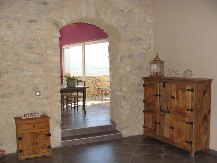 Location de vacances - Mas à Mirabel-et-Blacons - salon