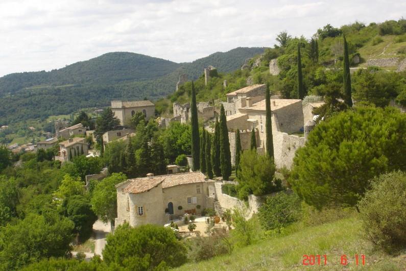 Location de vacances - Mas à Mirabel-et-Blacons - vue générale village Mirabel