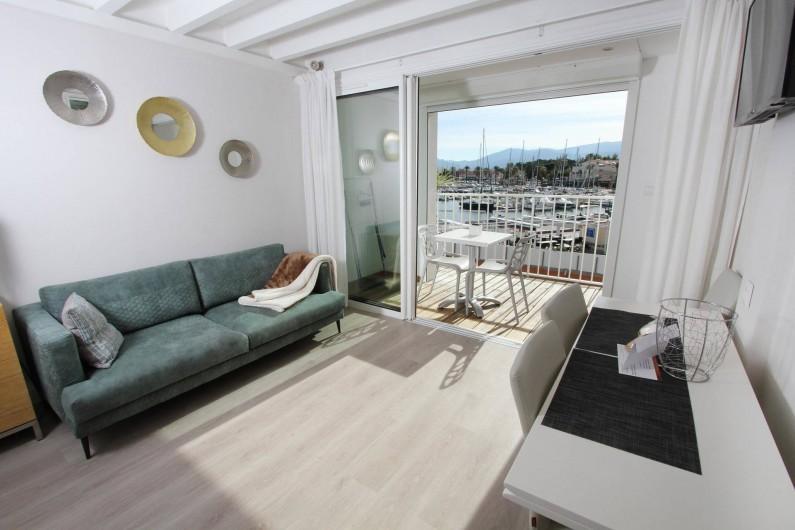 Location de vacances - Appartement à Saint-Cyprien Plage - Duplex, Salon
