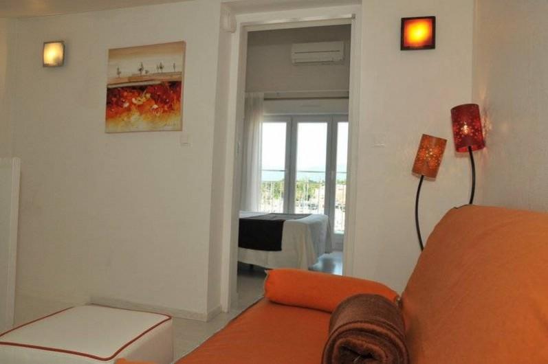 Location de vacances - Appartement à Saint-Cyprien Plage - Duplex, Canapé lit 140 chambre mezzanine