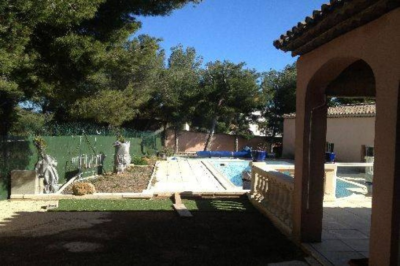 Location de vacances - Maison - Villa à Ensuès-la-Redonne - TERRASSE DONNANT ACCES SUR PISCINE