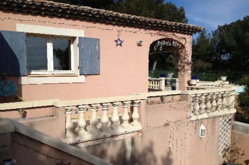 Location de vacances - Maison - Villa à Ensuès-la-Redonne - TERRASSE AVEC BALUSTRES