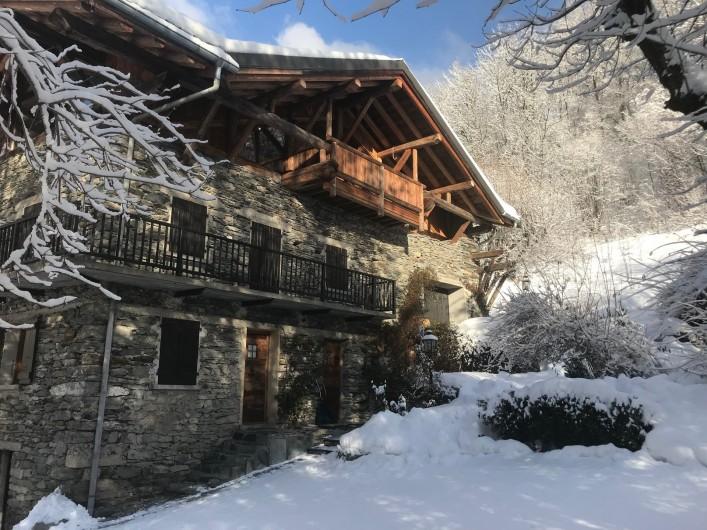 Location de vacances - Chalet à Séez - Façade nord-ouest
