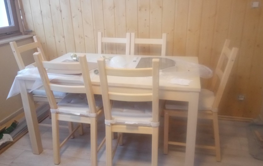 Location de vacances - Appartement à Le Collet d'Allevard - A table !
