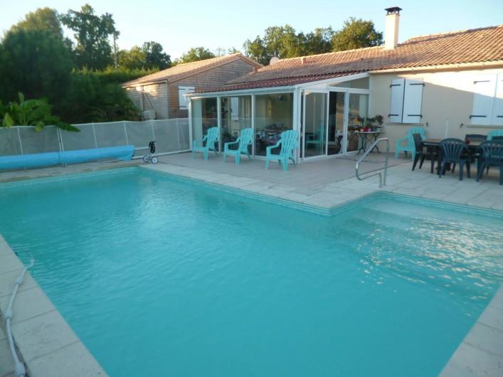 Location de vacances - Chambre d'hôtes à Donzac - La Piscine chauffée du 15 Mai au 15 Septembre