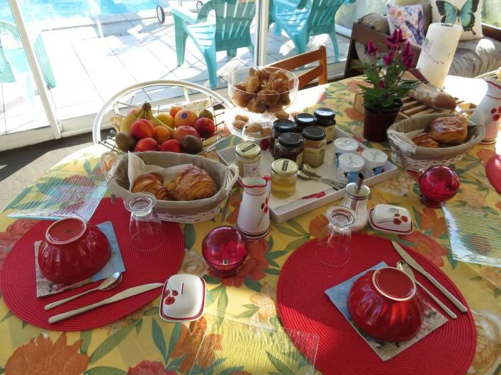 Location de vacances - Chambre d'hôtes à Donzac - La Table du Petit Déjeuner