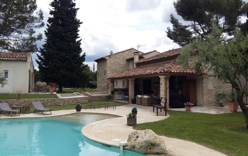 Location de vacances - Mas à Aix-en-Provence - piscine