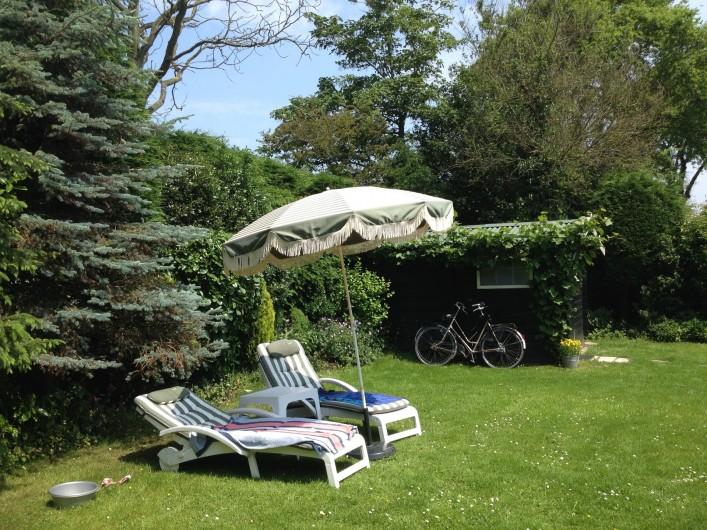 Location de vacances - Bungalow - Mobilhome à Dombourg - Notre jardin