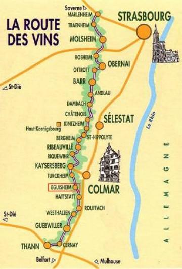 Location de vacances - Chambre d'hôtes à Sélestat - Localisation