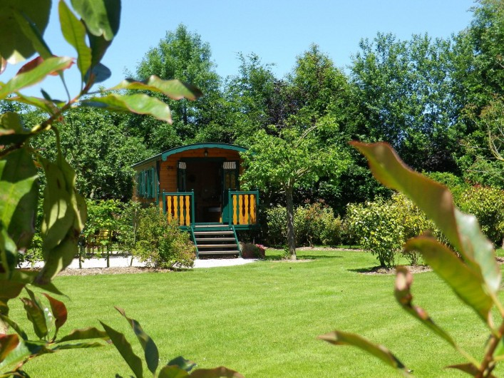 Location de vacances - Roulotte à Saint-Gilles-de-la-Neuville - La Roulotte Pic-Vert