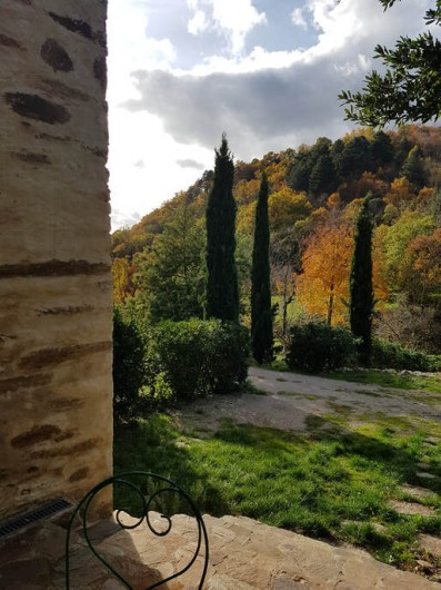 Location de vacances - Gîte à Saint-Vincent-d'Olargues - Terrasse meublé gîte 3