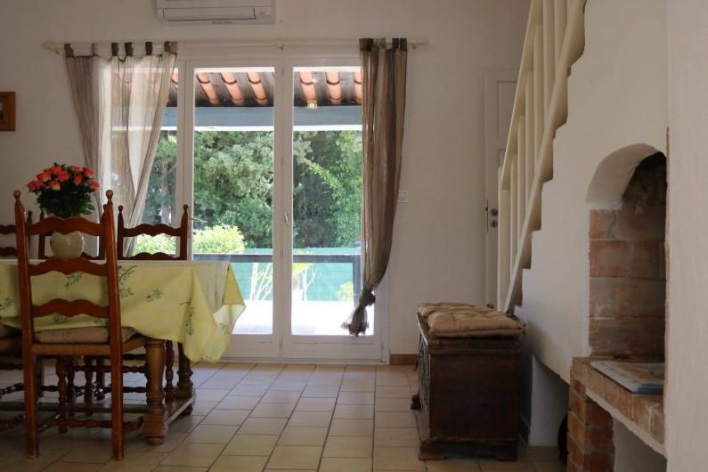 Location de vacances - Villa à Sainte-Maxime - salon - salla à manger