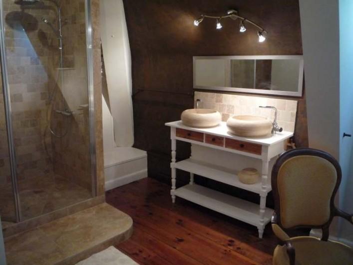 Location de vacances - Chambre d'hôtes à Salies-de-Béarn - salle de bain tarvertin