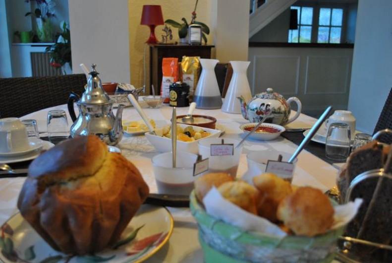 Location de vacances - Chambre d'hôtes à Salies-de-Béarn - petit déjeuners salé sucré