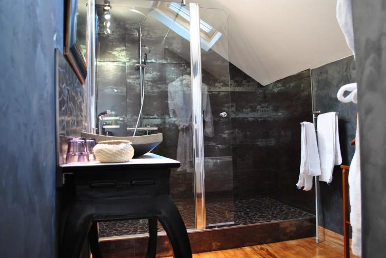 Location de vacances - Chambre d'hôtes à Salies-de-Béarn - salle de bain chambre suite
