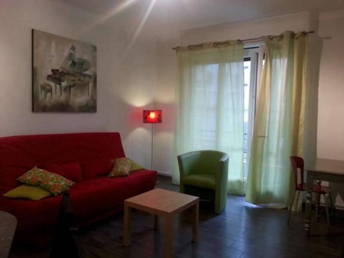 Location de vacances - Appartement à Nice - Le séjour