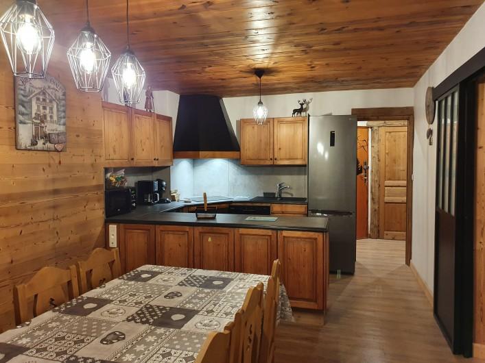 Location de vacances - Appartement à Villaroger - Cuisine séjour