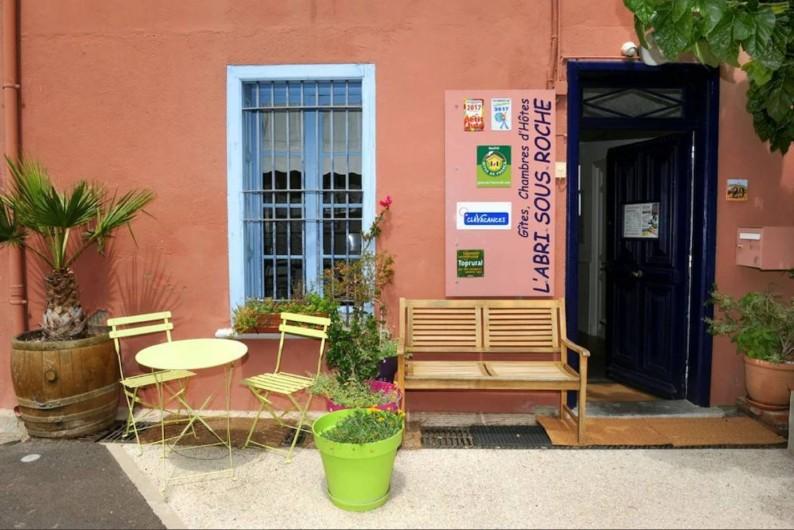 Location de vacances - Chambre d'hôtes à Tautavel - L'Abri sous Roche - Entrée