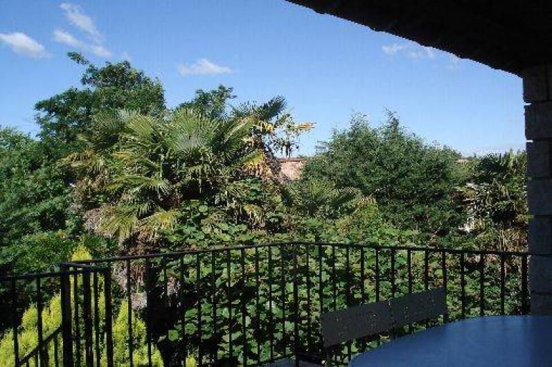 Location de vacances - Appartement à Saint-Alban-Auriolles - Terrasse du 1er étage