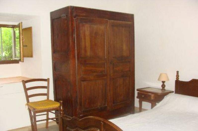 Location de vacances - Appartement à Saint-Alban-Auriolles - Chambre 1 du Rez-de-Chaussée - lit  2 personnes