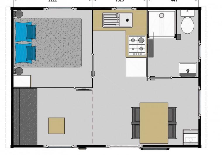 Location de vacances - Camping à Saint-Georges-de-Didonne - Mobil home Ibiza Solo 23m² Confort