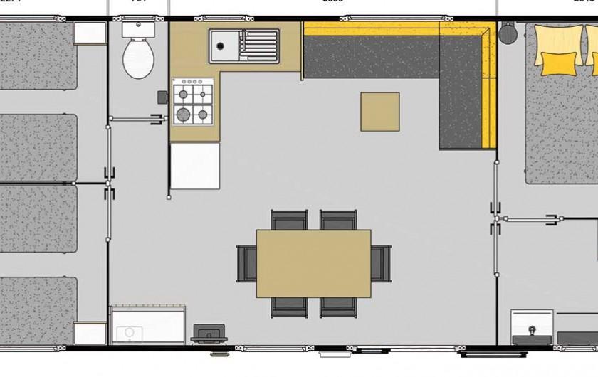 Location de vacances - Camping à Saint-Georges-de-Didonne - Mobil home Santa Fe Trio 37m² Grand Confort