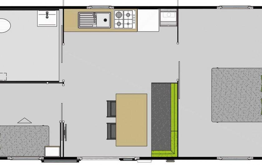 Location de vacances - Camping à Saint-Georges-de-Didonne - Mobil home Ibiza Duo 34m² Grand Confort - PMR