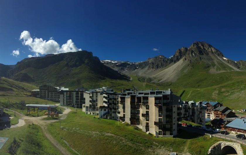 Location de vacances - Appartement à Tignes - Vue du balcon