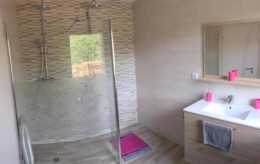 Location de vacances - Maison - Villa à Breitenbach - Salle de bain avec Double douche