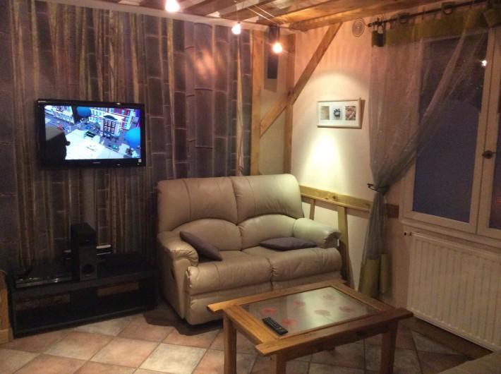 Location de vacances - Gîte à Cier-de-Luchon - salon +canapé 3 places et banquettes