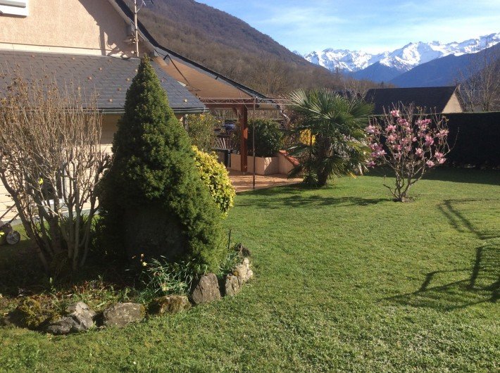 Location de vacances - Gîte à Cier-de-Luchon - vue sur les montagnes