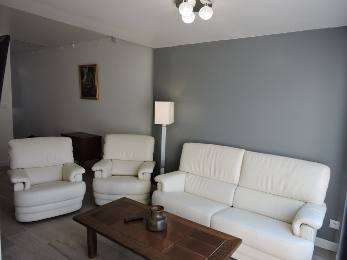 Location de vacances - Villa à Rochefort - salon cuir