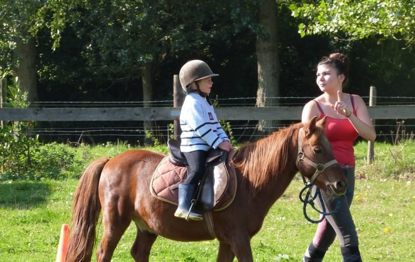 Location de vacances - Gîte à Tours-en-Vimeu - un tour de poney pour les enfants avec Marie