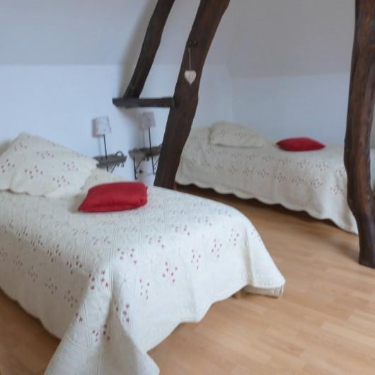 Location de vacances - Gîte à Tours-en-Vimeu - la chambre campagne avec 2 lits de 90
