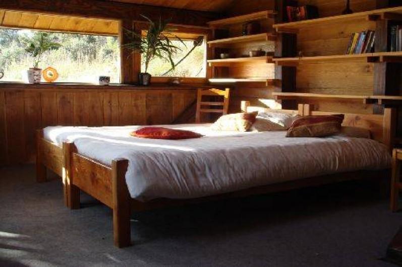 Location de vacances - Mas à Saint-Privat - La chambre à coucher avec une vue merveilleuse